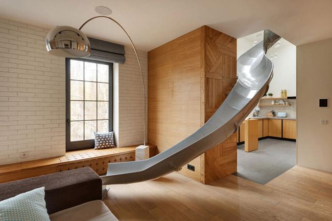 Appartement avec toboggan