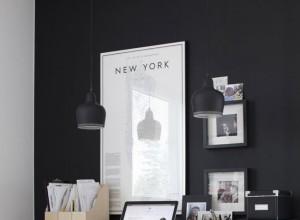 Bureau Mur Noir : Un bureau avec un coin pour les enfants