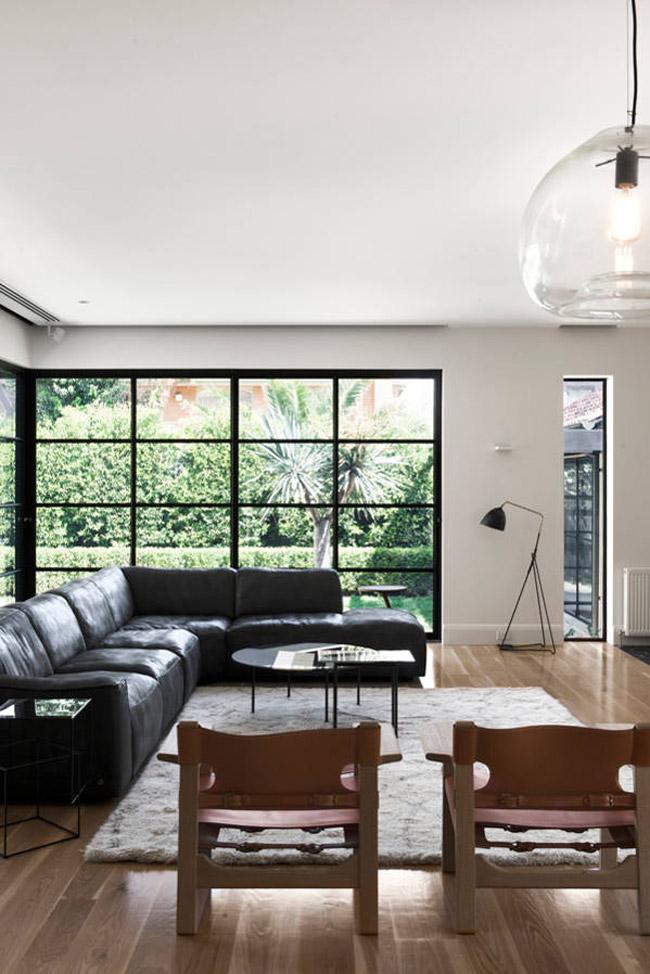 Maison Contemporaine En Bois Et Blanc