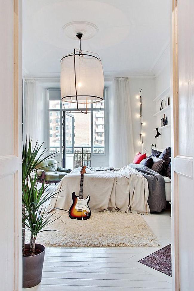 15 int rieurs avec un parquet blanc. Black Bedroom Furniture Sets. Home Design Ideas
