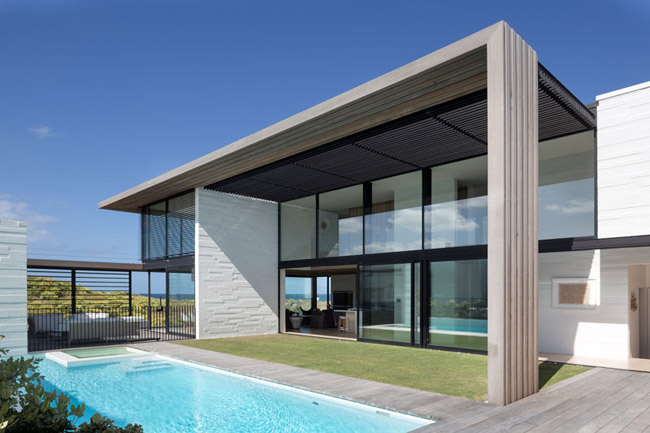 Visitez cette maison contemporaine avec piscine for Casa minimalista veracruz