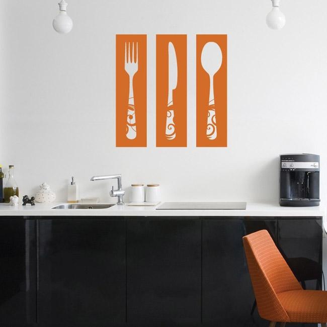 Universite des stickers muraux ustensiles cuisine for Decoration ustensiles cuisine