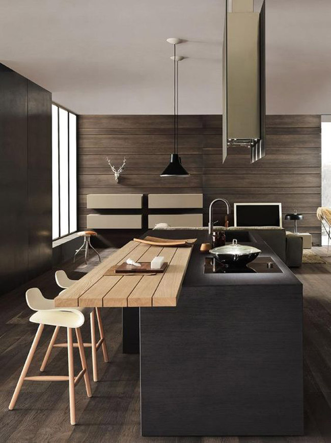 cuisine moderne style japonais. Black Bedroom Furniture Sets. Home Design Ideas