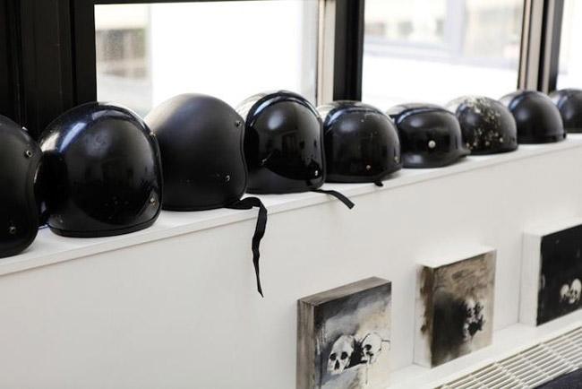 Decoration casques de moto