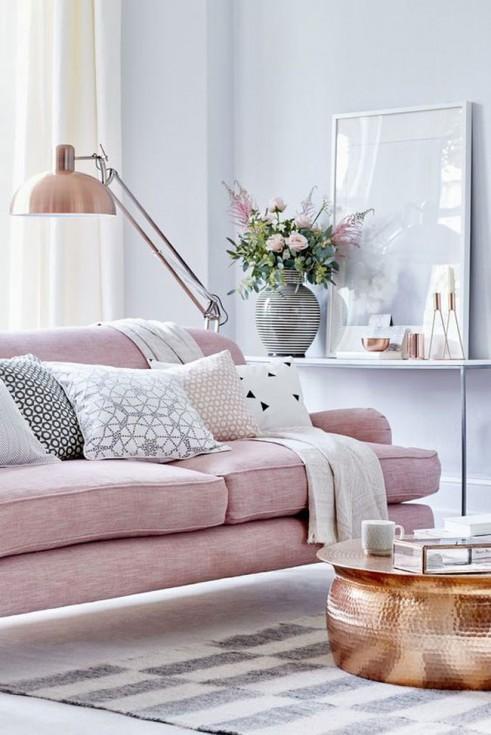 Decoration salon rose