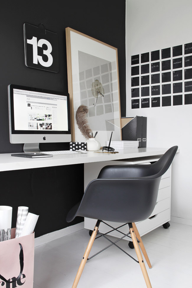 id es pour am nager un espace bureau la maison. Black Bedroom Furniture Sets. Home Design Ideas