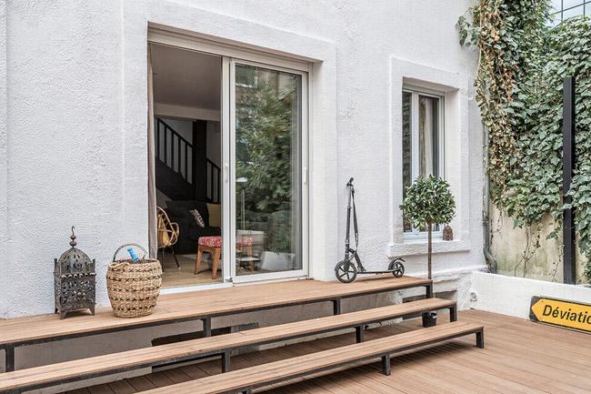 Maison de ville avec terrasse for Decoration maison de ville