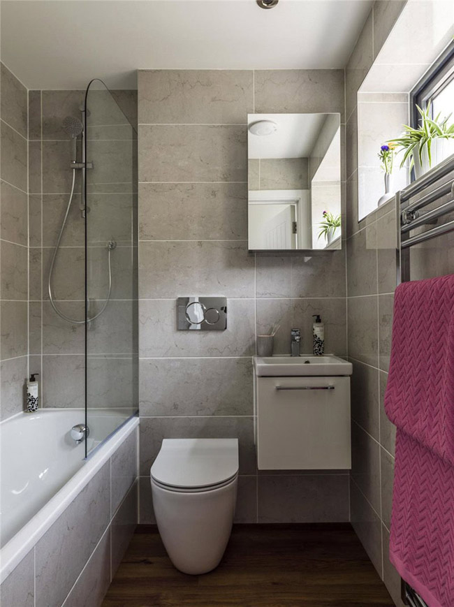 Petite salle de bain moderne for Petit salle de bain moderne