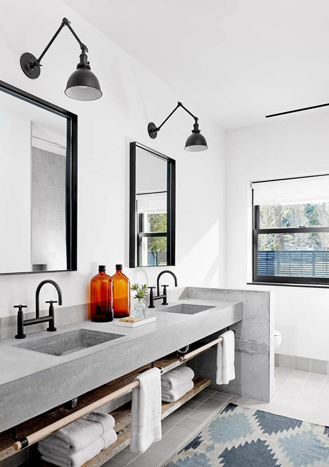 Salle de bain beton for Enduit beton salle de bain