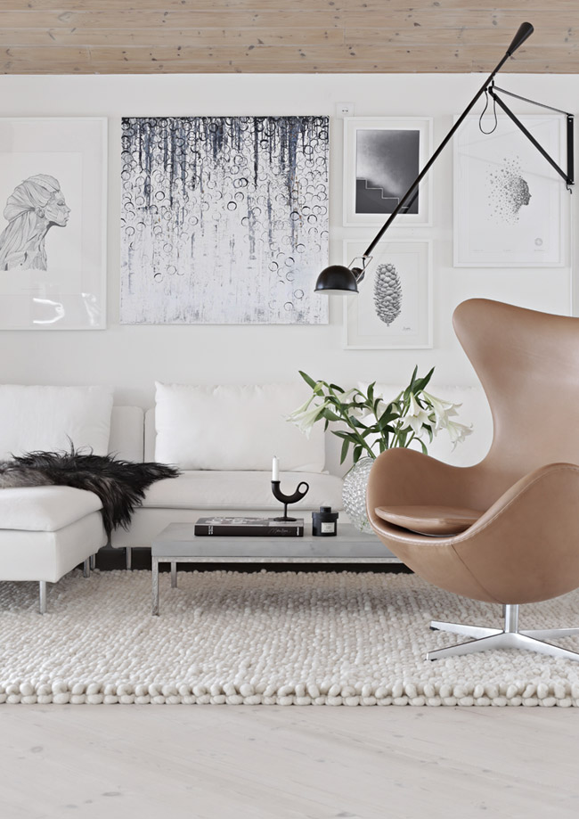 salon avec tapis epais blanc. Black Bedroom Furniture Sets. Home Design Ideas