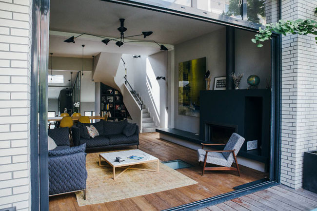 Decoration salon ouvert sur terrasse for Salon ouvert sur terrasse