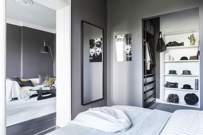 amenagement chambre avec dressing. Black Bedroom Furniture Sets. Home Design Ideas
