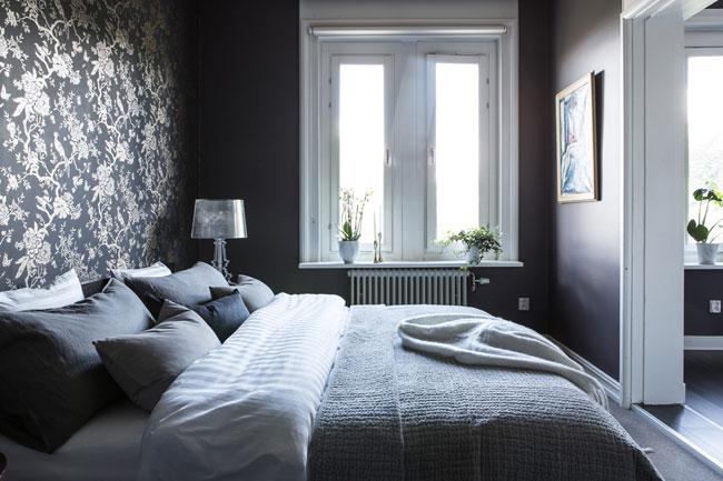 Chambre avec papier peint - Decoration papier peint chambre ...