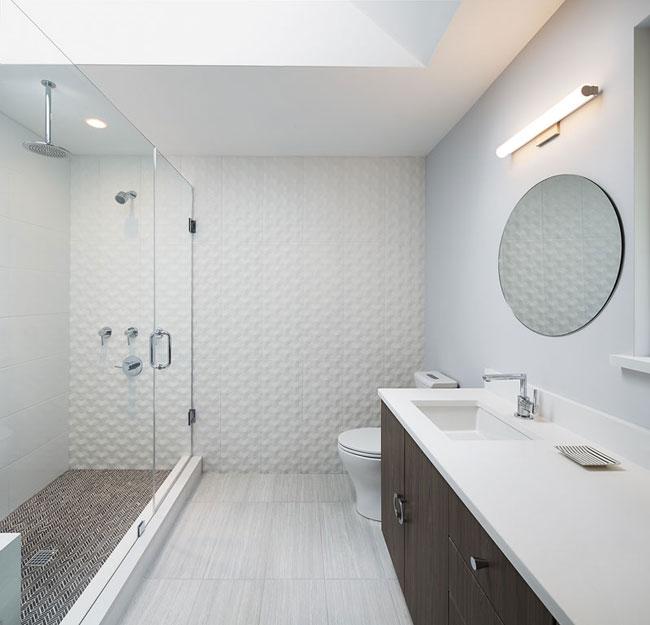 Salle de bain moderne et epuree for Salle de bain moderne 2016