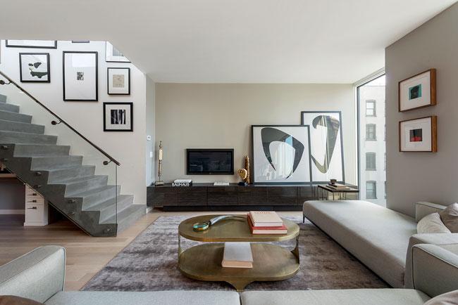salon avec escaliers beton. Black Bedroom Furniture Sets. Home Design Ideas