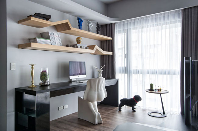 espace bureau a la maison. Black Bedroom Furniture Sets. Home Design Ideas
