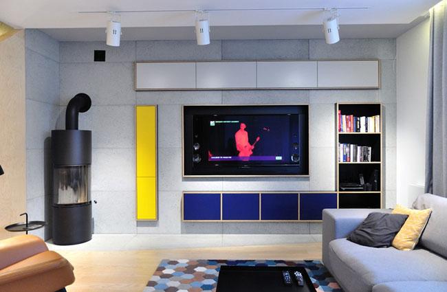 Salon amenagement moderne et colore for Amenagement de salon moderne
