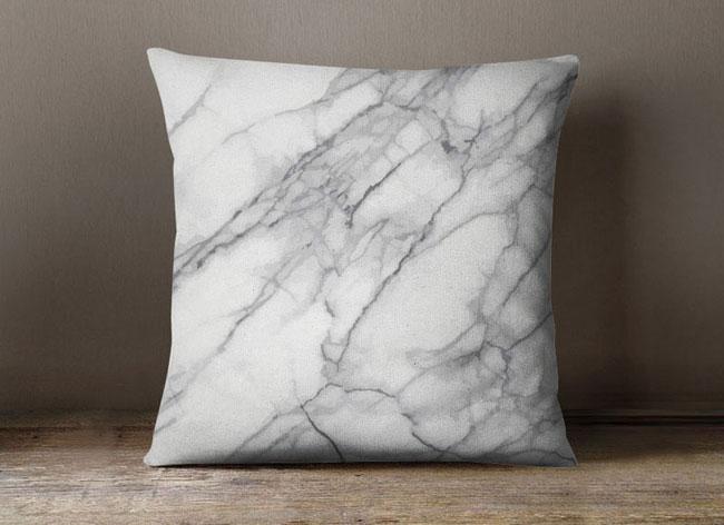 Coussin effet marbre - Coussin de decoration ...