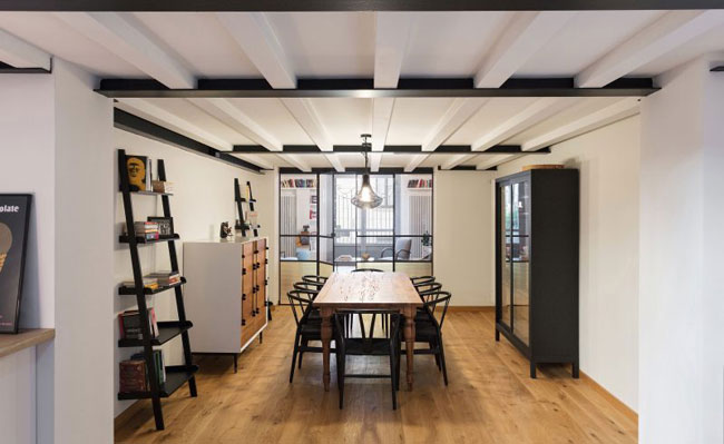 am nagement d 39 un loft londonien. Black Bedroom Furniture Sets. Home Design Ideas