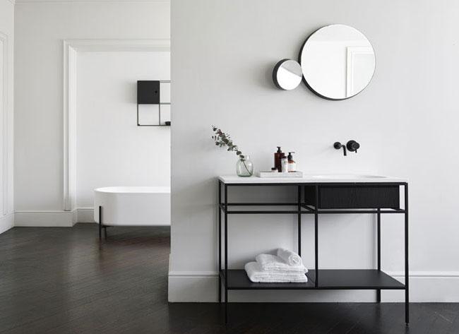 Meubles de salle de bain minimalistes et fonctionnels