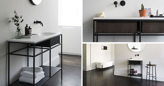 mobilier moderne pour salle de bain minimaliste par norm architects. Black Bedroom Furniture Sets. Home Design Ideas