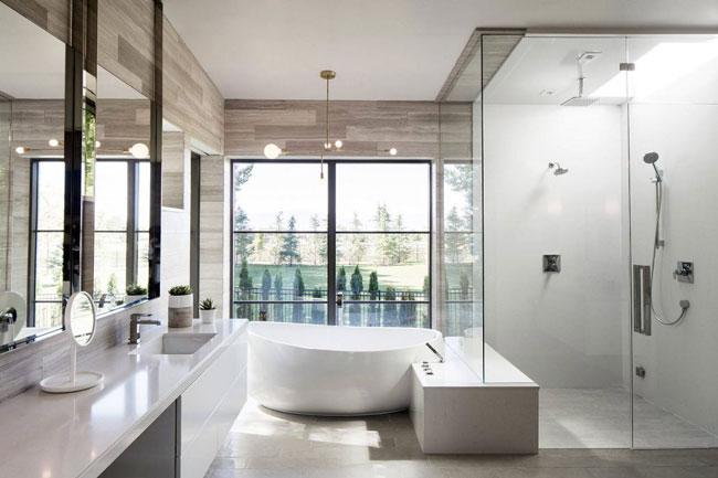 maison contemporaine avec piscine en pleine nature. Black Bedroom Furniture Sets. Home Design Ideas