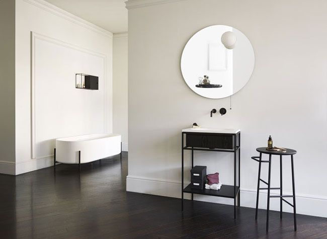 salle de bain moderne et minimaliste. Black Bedroom Furniture Sets. Home Design Ideas