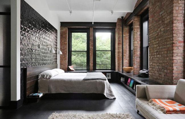 Id es d co dans le style loft industriel new yorkais - Chambre style loft industriel ...