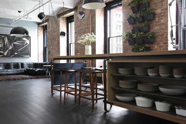 id es d co dans le style loft industriel new yorkais. Black Bedroom Furniture Sets. Home Design Ideas