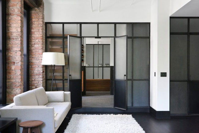 id es d co dans le style loft industriel new yorkais. Black Bedroom Furniture Sets. Home Design Ideas