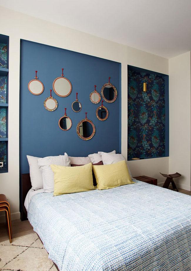 miroir tete de lit cool tete de lit kazed unique luxe. Black Bedroom Furniture Sets. Home Design Ideas