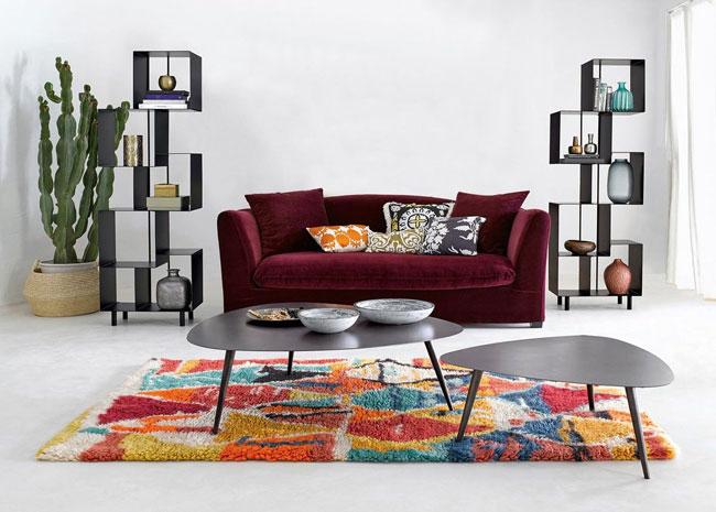 canape velours bordeaux. Black Bedroom Furniture Sets. Home Design Ideas