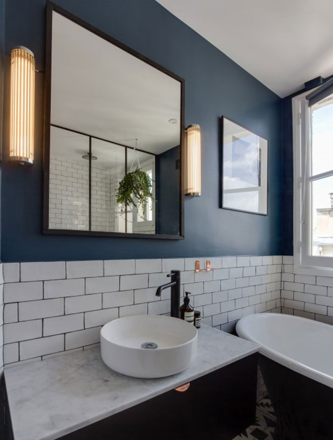 Salle de bain avec carrelage metro for Salle bain carrelage metro