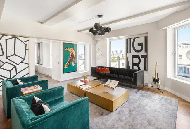Visitez l 39 appartement de keith richards - Appartement new york a vendre ...
